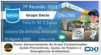 7ª Reunião PAM-TAP Grupo DECIO 2021 Online